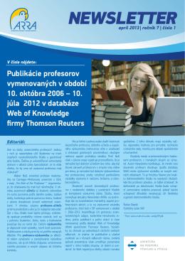 Newsletter 2013 01