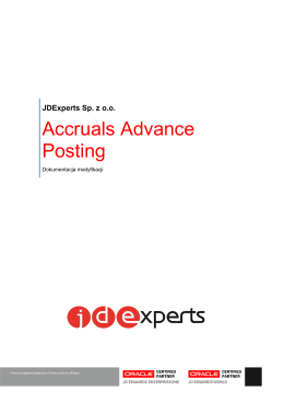 Accruals Advance Posting