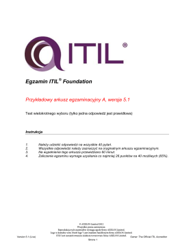 Egzamin ITIL Foundation