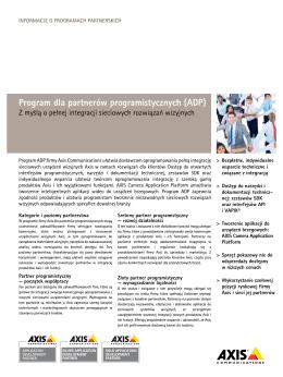 Program dla partnerów programistycznych (ADP)