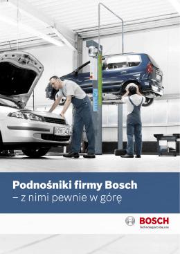 Podnośniki firmy Bosch – z nimi pewnie w górę