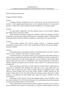 Uznesenia OZ z 1. zasadnutia konaného 05.03