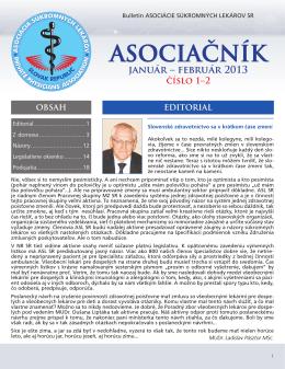 Asociačník 1/2013 - Asociácia súkromných lekárov SR