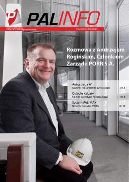 Rozmowa z Andrzejem Rogińskim, Członkiem Zarządu