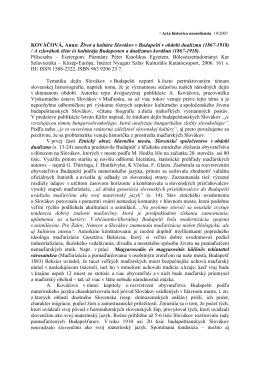 Život a kultúra Slovákov v Budapešti v období dualizmu (1867