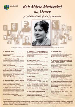 Rok Márie Medveckej na Orave pri príležitosti 100