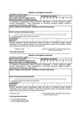 polecenie zaplaty - DKV Euro Service GmbH + Co. KG