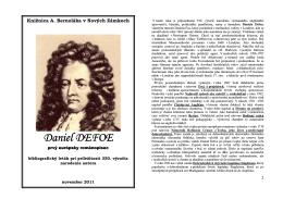 Daniel Defoe (okolo 1661-1731), 2011
