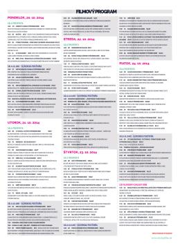 filmový program 2014
