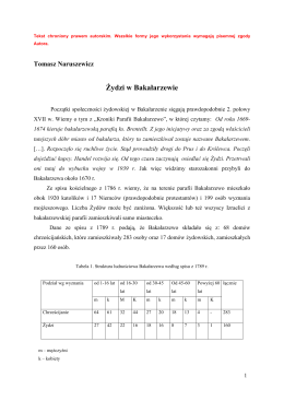 Żydzi w Bakałarzewie