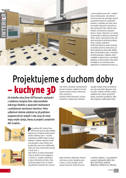 Projektujeme s duchom doby – kuchyne 3D