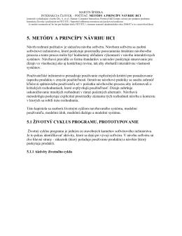 5. METÓDY A PRINCÍPY NÁVRHU HCI