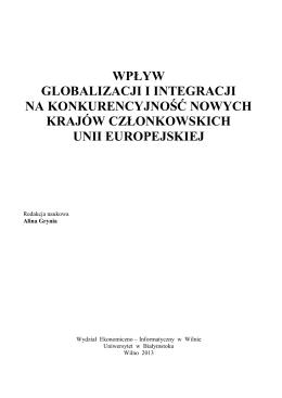 wpływ globalizacji i integracji na konkurencyjność nowych krajów