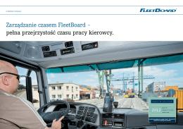 Zarządzanie czasem FleetBoard – pełna przejrzystość czasu pracy