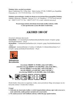 AKORD 180 OF - Organika-Sarzyna - Zakłady Chemiczne Organika