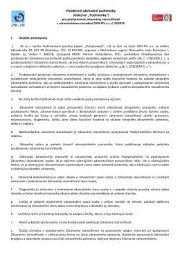 Všeobecné obchodné podmienky (ďalej len - GYN
