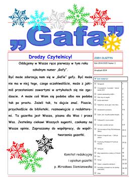 GAFA nr 1 2014/2015
