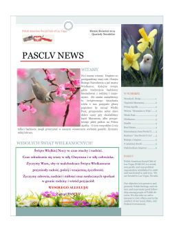 PASCLV NEWS - PASCLV Polish American Social Club of Las Vegas