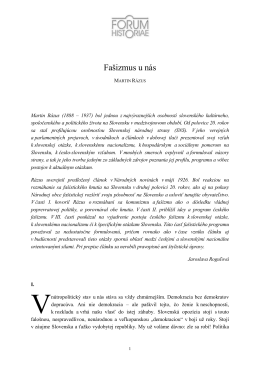 Martina Rázusa - Forum Historiae