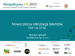 Monika Samojlik - Perspektywy HR