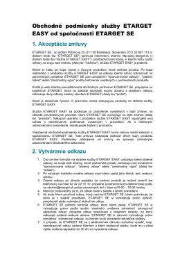 Všeobecné obchodné podmienky - EASY