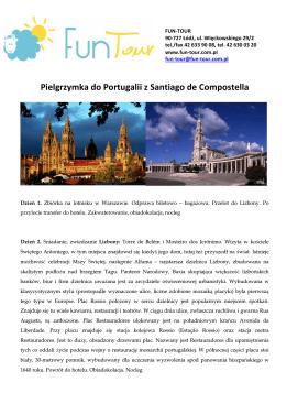 Pielgrzymka do Portugalii oraz Santiago de Compostella