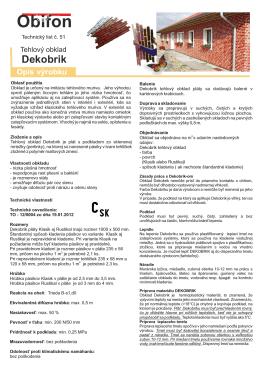 Novy Technicky list Dekobrik Tehla 072012