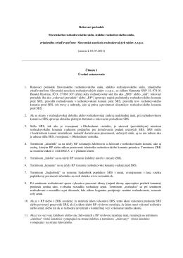 Rokovací poriadok Slovenského rozhodcovského súdu, stáleho