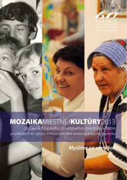 Mozaika 2013 - Krajské osvetové stredisko v Nitre