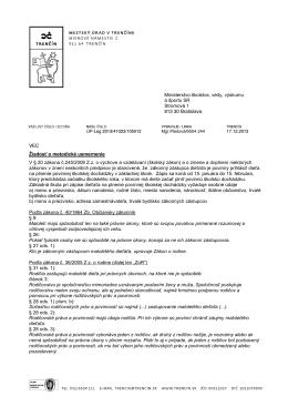 VEC Žiadosť o metodické usmernenie V § 20 zákona č.245/2008