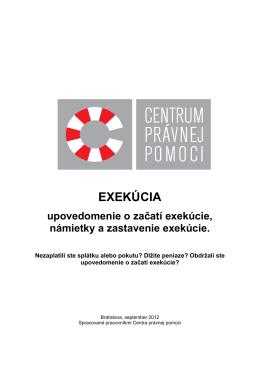 EXEKÚCIA - CENTRUM PRÁVNEj POMOCI