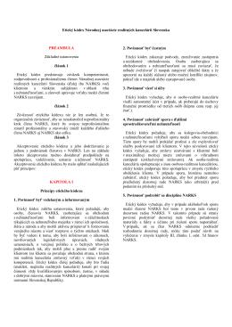 Etický kódex Národnej asociácie realitných kancelárií