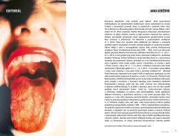 JANA GERŽOVÁ EditORiÁl - Časopis Profil súčasného umenia