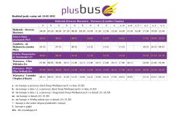 Rozkład jazdy ważny od: 16-01-2015