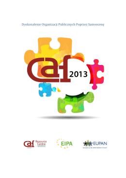 Doskonalenie organizacji publicznych poprzez samoocenę CAF 2013