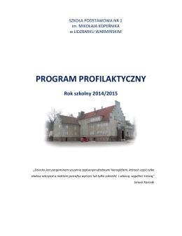 program profilaktyczny - Szkoła Podstawowa nr 1 im. Mikałaja