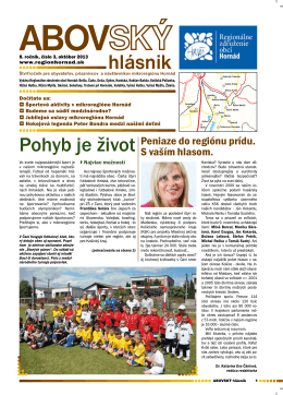 3/2013 - Regionálne združenie obcí Hornád