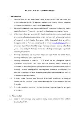 Regulamin Akcji Dni LifeStyle_2015.03.17-18