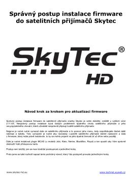 Správný postup instalace firmware do satelitních přijímačů Skytec
