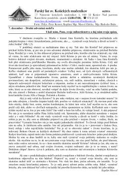 7. December 2014 - Farnosť sv. košických mučeníkov