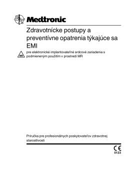 Zdravotnícke postupy a preventívne opatrenia týkajúce sa EMI