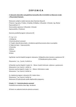 Zápisnica z rokovania OZ 14.10.2014