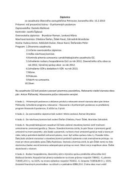 Zápisnica a uznesenie z 15.2.2013