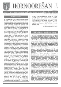 Hornoorešan - číslo 1/2013