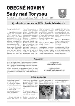 Výtlačok č.3 - apríl 2011