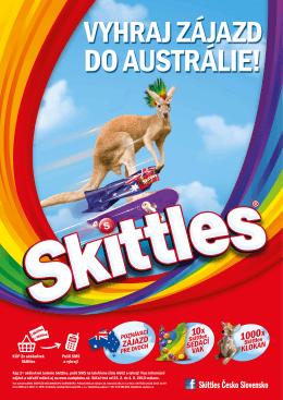 KÚP 2x akékoľvek Skittles Pošli SMS a vyhraj!