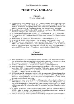 OP - 3. Prestupový poriadok 2013