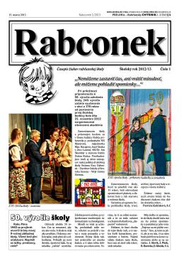 50. výročie školy - Základná škola s materskou školou Rabčická 410