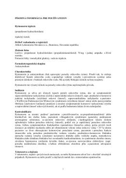 Príbalové informácie - Abbott Laboratories Slovakia s. r. o.