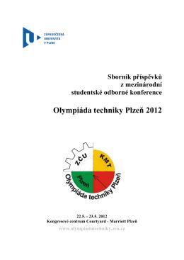 Olympiáda techniky Plzeň 2012 - Západočeská univerzita v Plzni